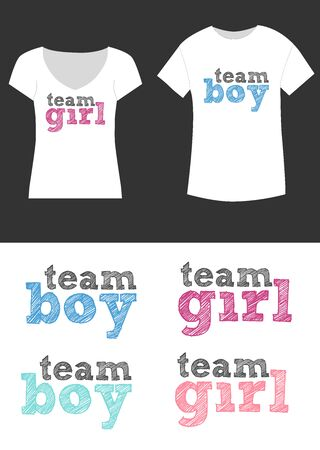 Gender reveal party T-shirt design