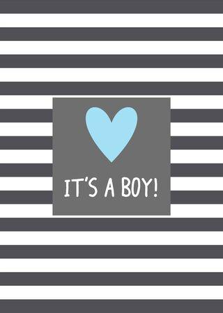 It's a boy! Vector card design