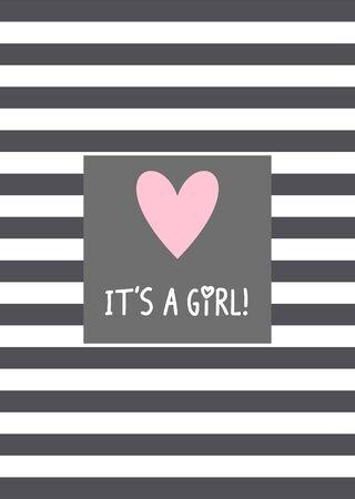 It's a girl! Vector card design