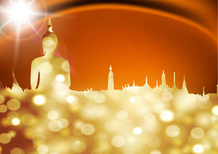thai buddha: gold buddha Illustration