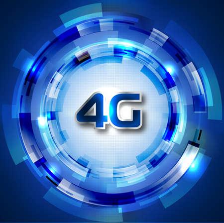 4G Smart phone display wifi wireless Illustration