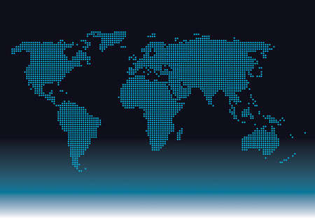 Diagram world worldwide digital graphic Illustration