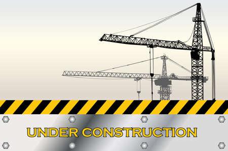 Architect built construction Illustration
