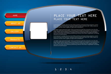 illustration web site template design  Modern web page