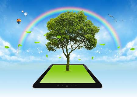 green sunlight eco future power Stock Photo - 17995064