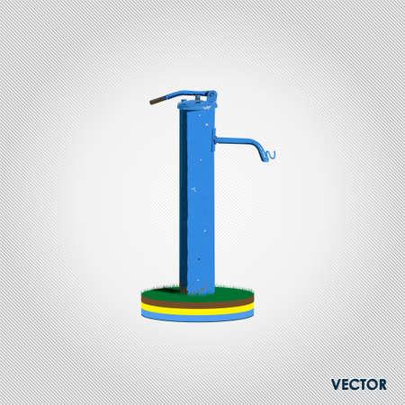 bomba de agua: Bomba de agua foto de la naturaleza ilustraci�n vectorial realista Vectores