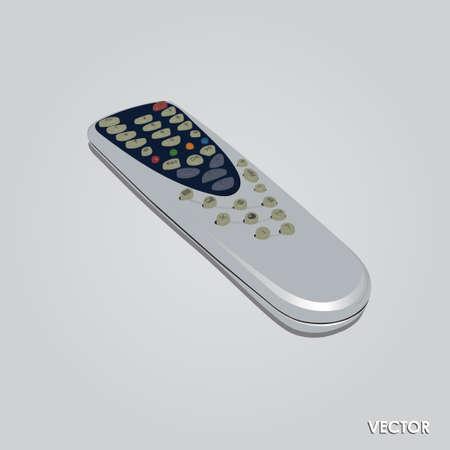 tv remote: Иллюстрация ТВ пульт управления, изолированных на сером фоне Иллюстрация