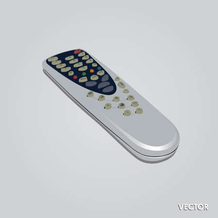 tv remote: Illustration of TV Remote Control Isolated on gray Background Illustration