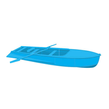 single color image: Rowing boat vector illustration of isolated on a white background