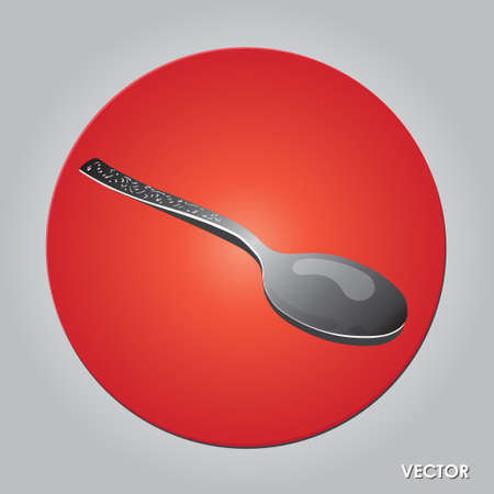 tablespoon: Table tea spoon photo realistic vector illustration