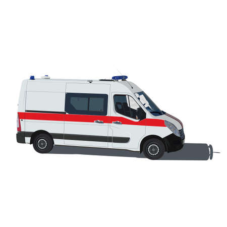 Ilustración vectorial Ambulancia de aislado en un fondo blanco Ilustración de vector