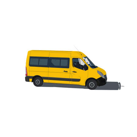 mini bus: Taxi and transportation van vector illustration isolated on white background