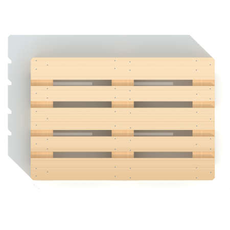 euro pallet: Wooden euro pallet  3D rendered illustration of isolated on white background Stock Photo