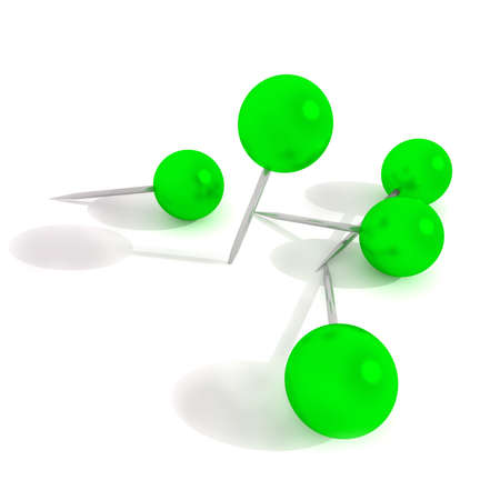 green pins illustration