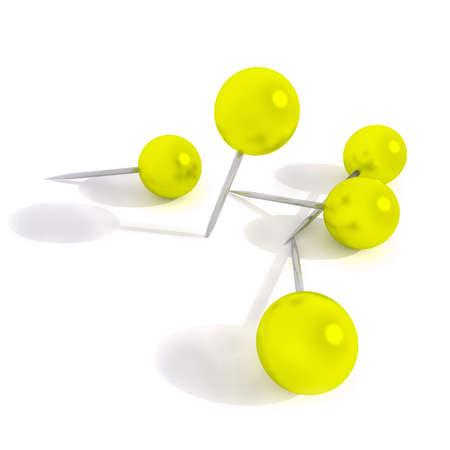 yellow pins illustration