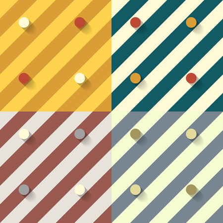 set of four geometric seamless patterns and backgrounds Vector