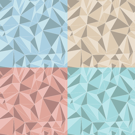 set of four triangles patterns and backgrounds Vector