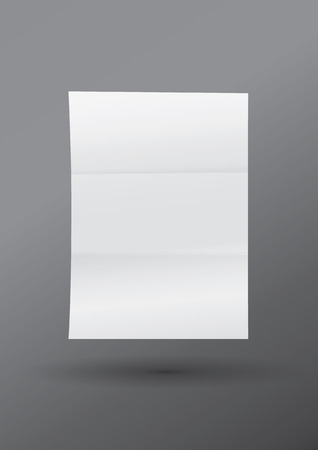 realism: mock-up a realistic white blank sheet of A4