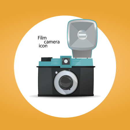 camera film: Film camera icon concept