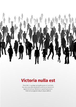 Grande foule de gens. vecteur de fond Banque d'images - 33929111