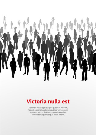 Large crowd of people. vector background Vector