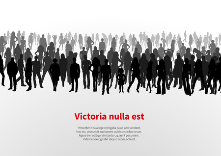 Large group of people background Illustration