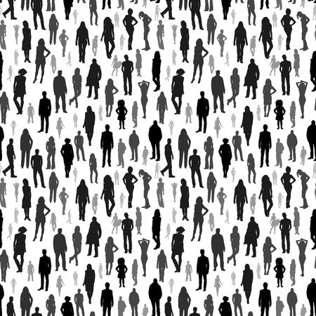 Grand groupe de personnes. vecteur seamless Banque d'images - 33923310