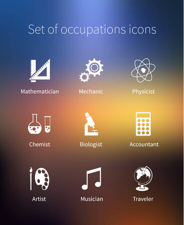 biologist: Set of occupations icons