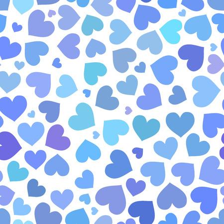 heart seamless pattern: Blue heart seamless pattern on Valentines day