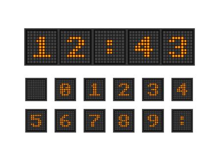 lighting bulb: Set vector pixel numbers of lighting bulb Illustration