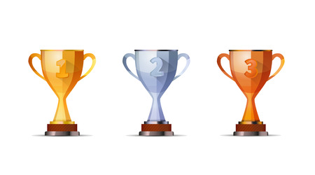 achievement clip art: Cups of winners award for first, second and third winners position isolated on white.jpg
