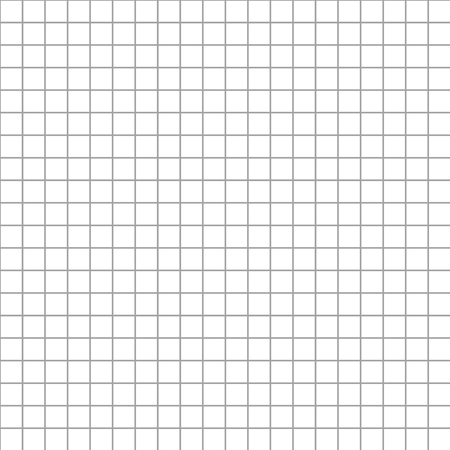 millimeters: Five millimeters square gray grid on white seamless pattern