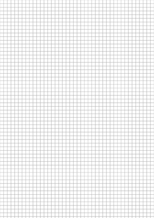 Five millimeters gray grid on a4 size sheet