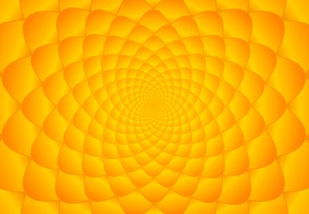 fibonacci: Abstract bright orange and yellow fibonacci background illustration