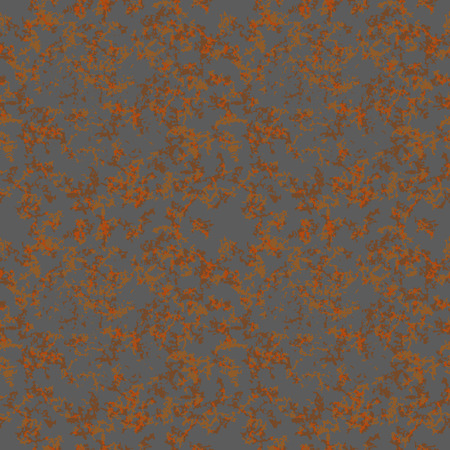 urban decay: Brown rust texture on gray metal, seamless pattern Illustration