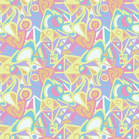 patrón abstracto sin fisuras lindo en colores pastel Ilustración de vector