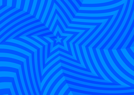 flashback: A lot of deep blue twisted stars, abstract background Illustration