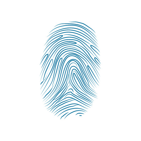 theft proof: Imprint of the thumb of the human hand isolated on white