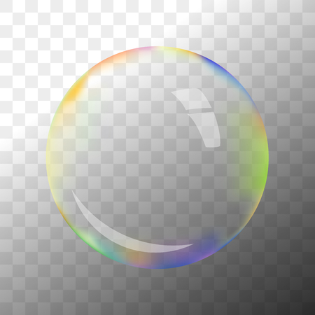 hotspot: Colorful transparent vector soap bubble with hotspot Illustration