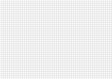 millimeters: Five millimeters gray grid on a4 size horizontal sheet