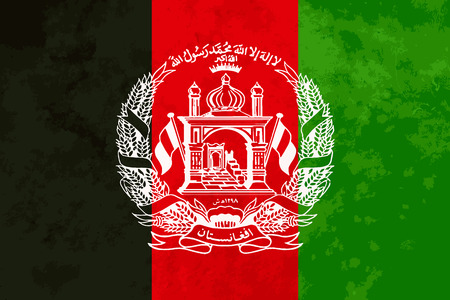 proportions: True proportions Afghanistan flag with grunge texture
