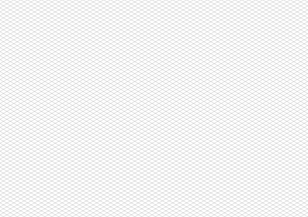 grid paper: Gray isometric grid on white, a4 size horizontal background