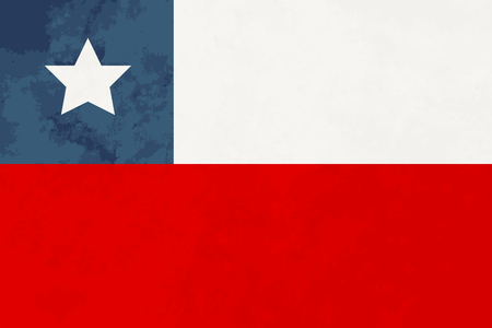 chile: True proportions Chile flag with grunge texture Illustration