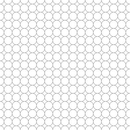 millimeters: Gray grid made up of five millimeters circles on white, seamless pattern Illustration