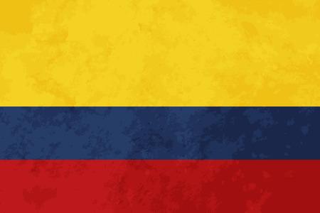 bandera de colombia: proporciones verdaderas bandera de Colombia con textura del grunge