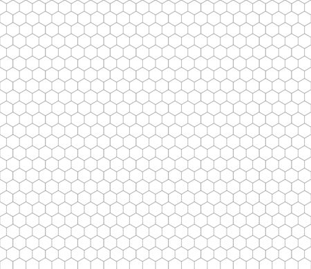 Cyan Color Hexagon Grid On White A Size Horizontal Background