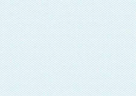 size: Cyan color isometric grid on white, a4 size horizontal background