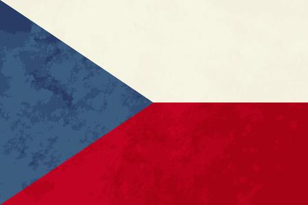 the czech republic: True proportions Czech Republic flag with grunge texture