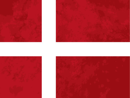 denmark flag: True proportions Denmark flag with grunge texture Illustration
