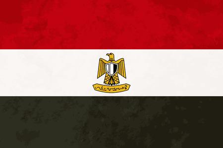 bandera de egipto: proporciones verdaderas bandera de Egipto con textura del grunge